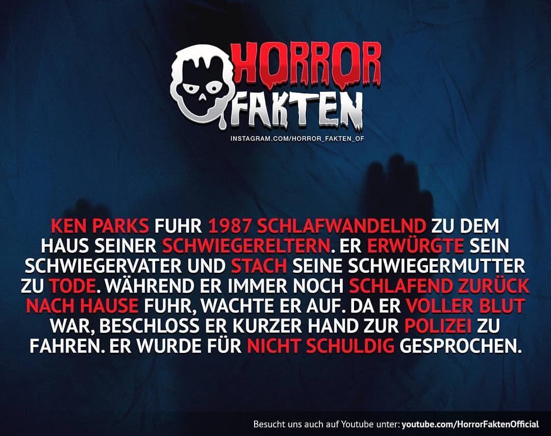 horrorfakten | Horror Fakten | Pinterest | Fakten, Grusel und Tatsachen