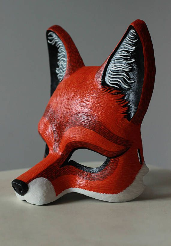 Mask In The Form Of A Chanterelle Made Of Plastic Very Light And Durable Wool Is Painted By Hand With Acrylic Paints With Images Fantastic Mr Fox Pet Fox Animal Masks