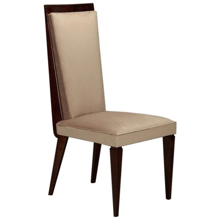 Enjoyable Set Of 8 Art Deco French Dining Chairs In Beechwood Robert Alphanode Cool Chair Designs And Ideas Alphanodeonline