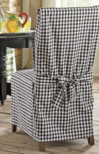 Enjoyable Chair Cover Black Gingham From Through The Country Door In Andrewgaddart Wooden Chair Designs For Living Room Andrewgaddartcom