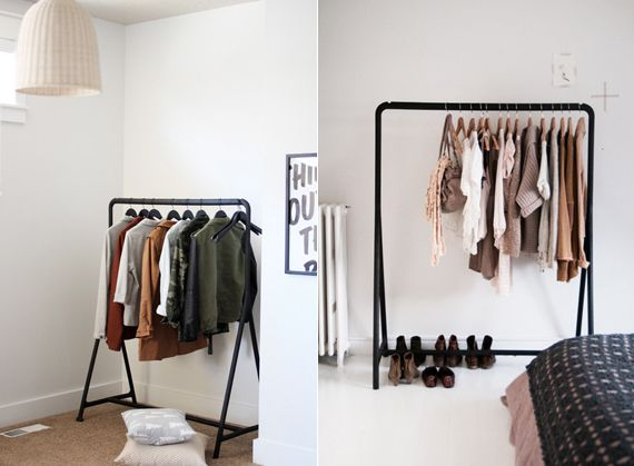 Design dilemma no closet no problem why have i not - Room with no closet ...