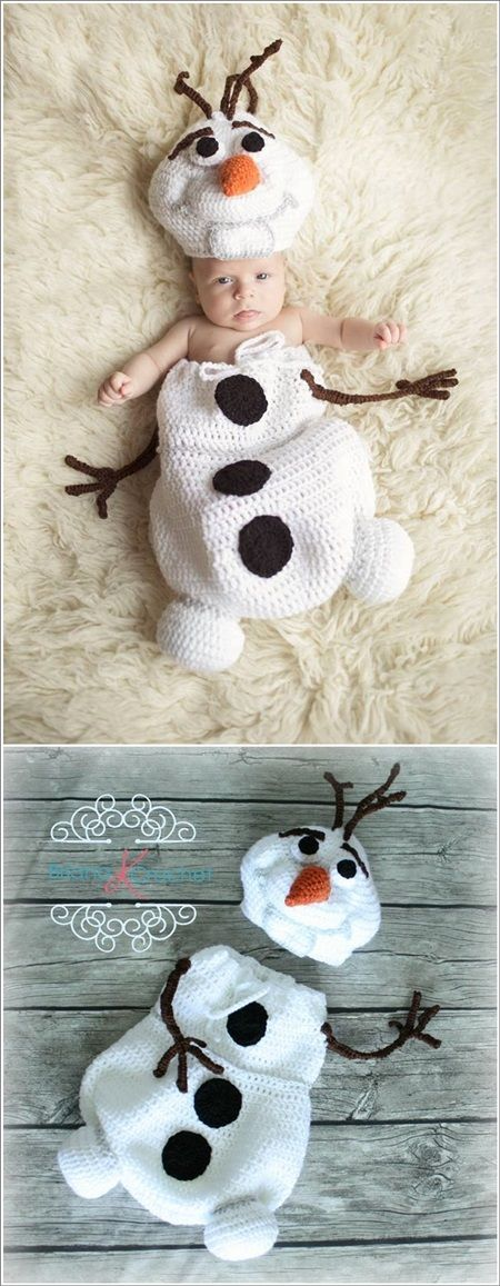 Cute Christmas Crochet Cocoon Patterns | bebé tejido | Pinterest