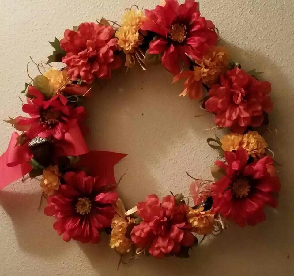 Fall flower wreath by Tara / Gypsy Chicks Boutique