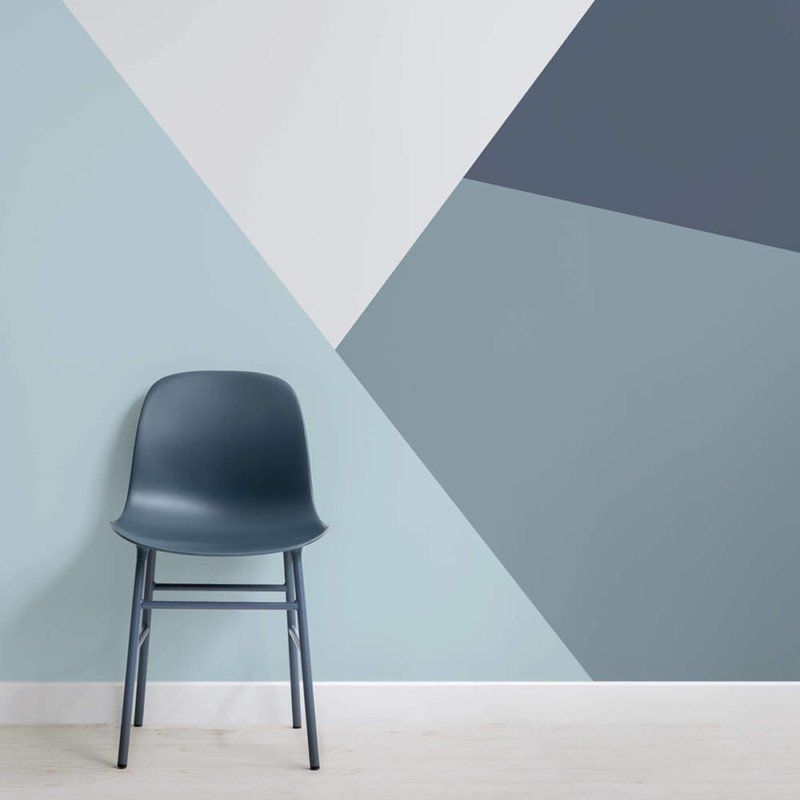 All of our edgy geometric wallpaper designs are big, bold