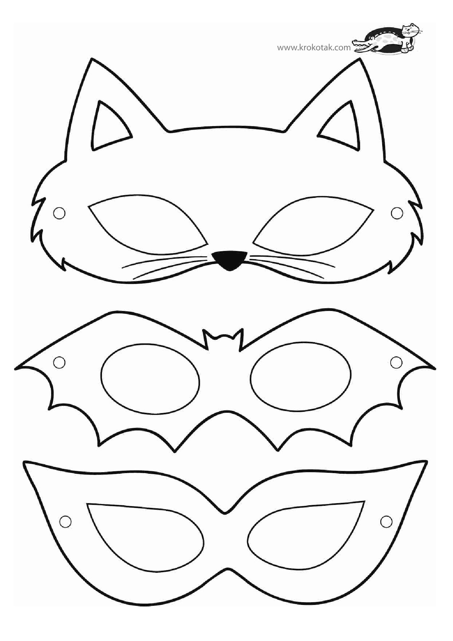 This is a photo of Légend Print Out Halloween Mask