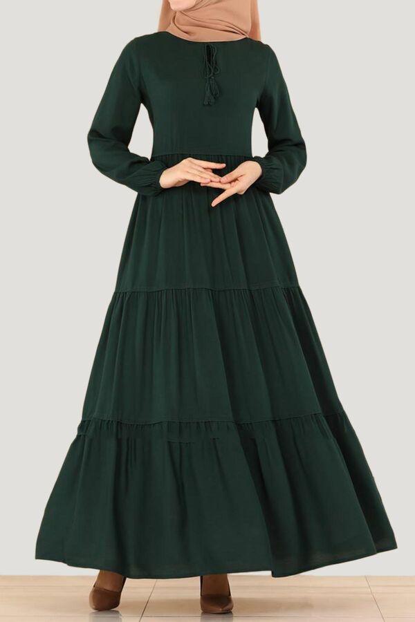فستان أخضر فزكون Dresses Fashion Dresses With Sleeves