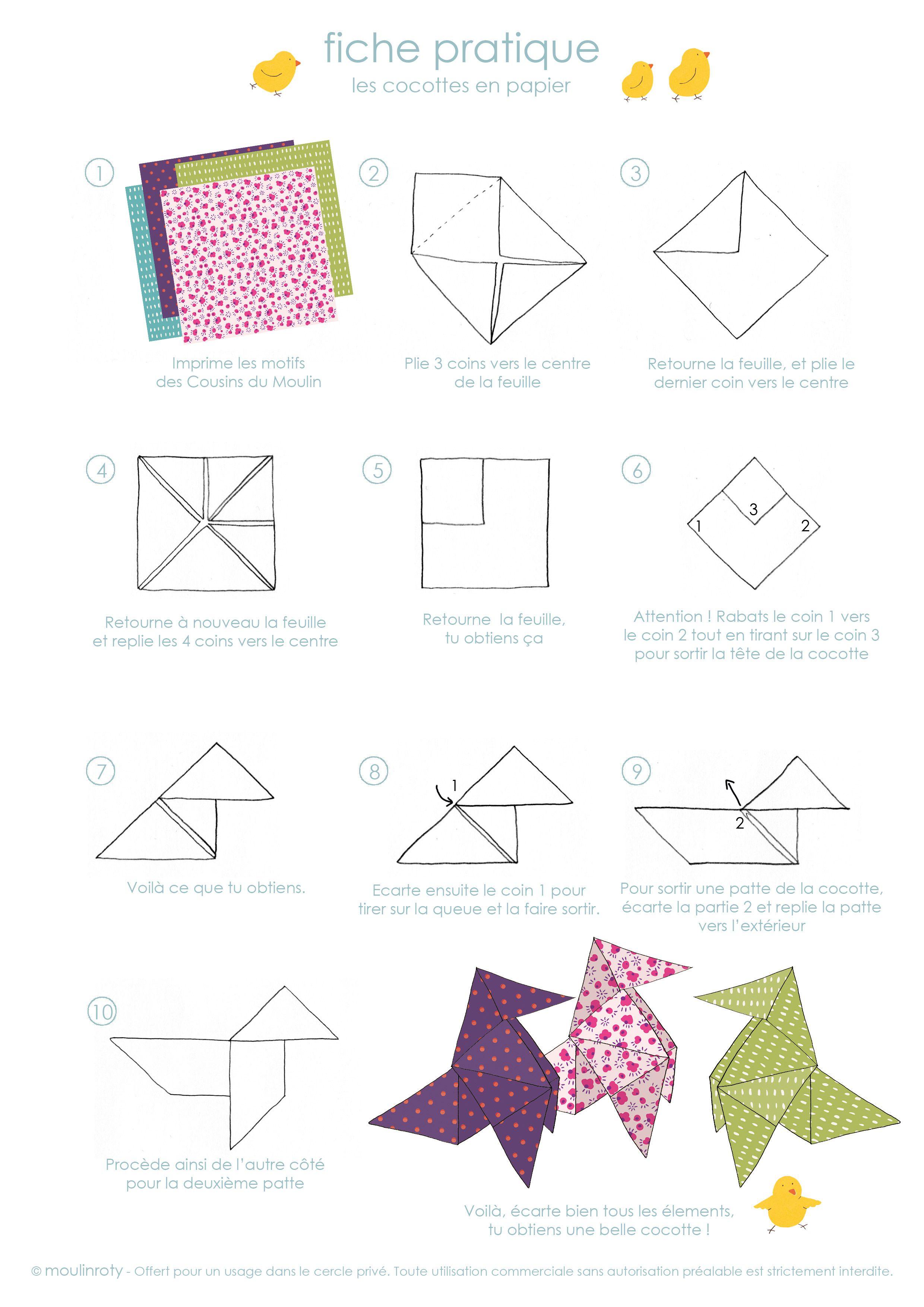 r alise de jolies cocottes en papier avec moulin roty diy activit s pour les enfants. Black Bedroom Furniture Sets. Home Design Ideas