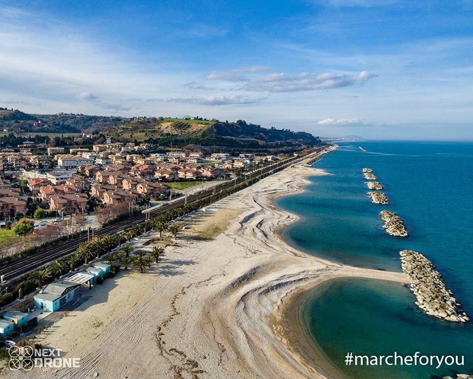 """Marina di Altidona - #Fermo by @nextdrone """"Veduta aerea della spiaggia di Marina di Altidona in una bellissima giornata di Febbraio. I colori del mare Adriatico tingono tutto di un bellissimo blu e verde."""""""