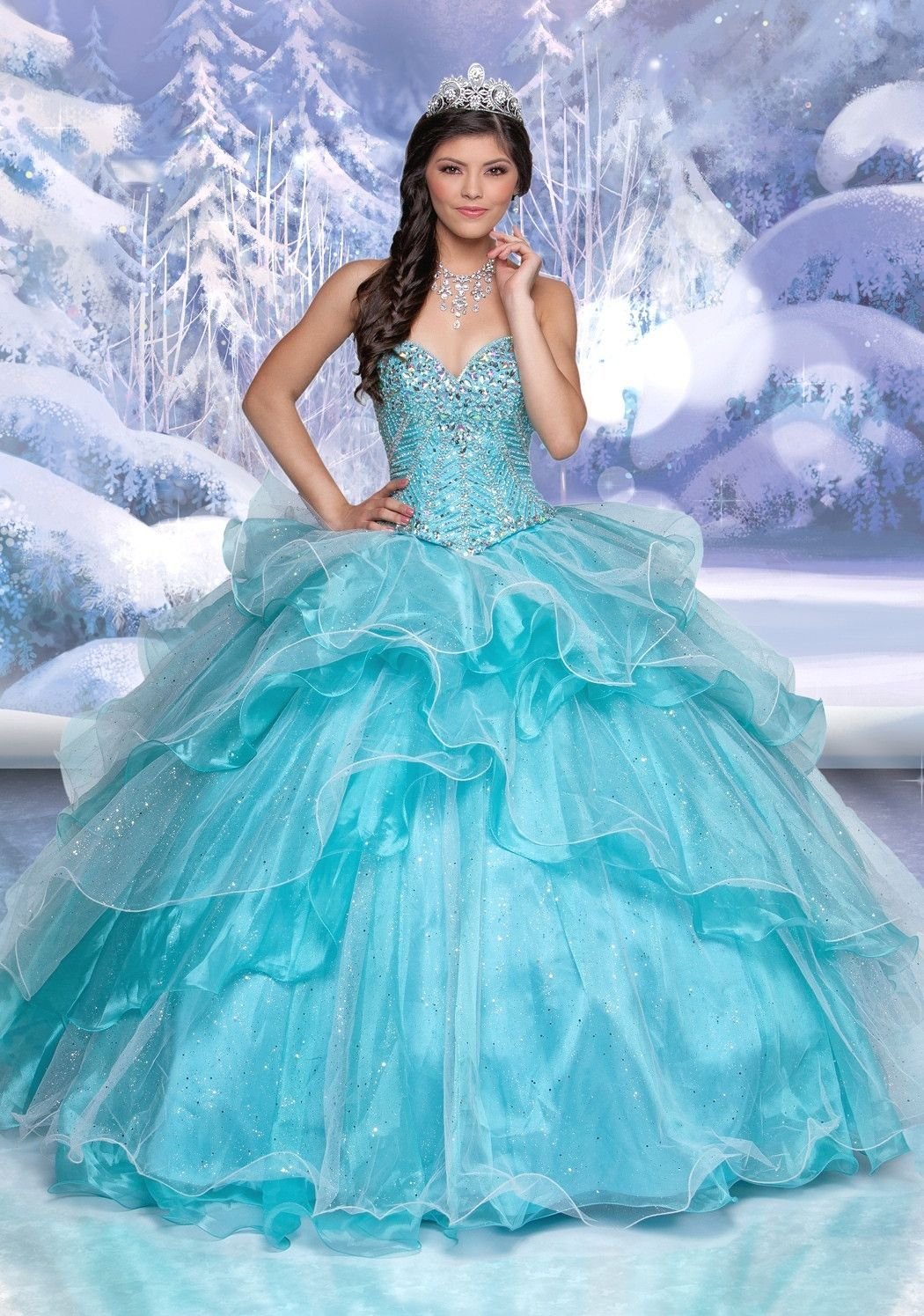 d8eaff6fcf Disney Royal Ball Quinceanera Dress Elsa Style 41097 is made for Sweet 15  girls who want to look like a beautiful Princess on her special day with  its ...