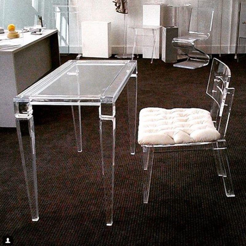 King Desk Table Cool desk chairs, Lucite desk
