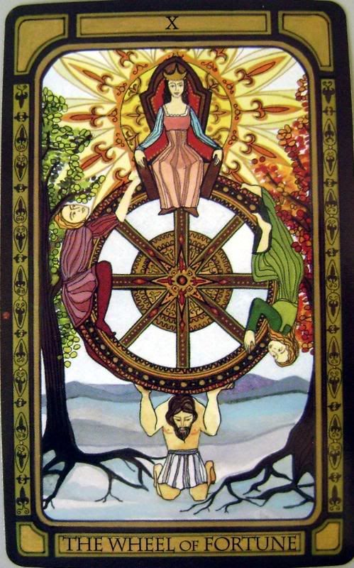 Wheel of Fortune | Fortuna | Pinterest | Dean o'gorman ... Golden Tarot Liz Dean