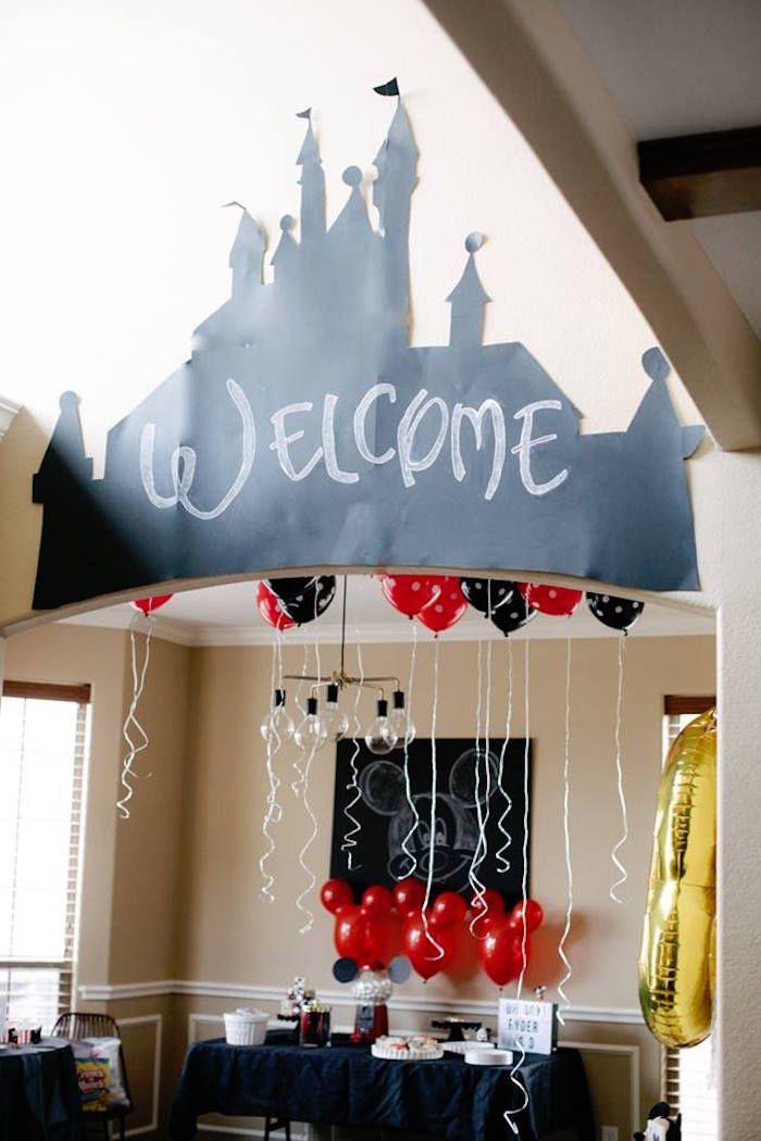DIY Modern Throwback Mickey Mouse Birthday Party | Kara's Party Ideas