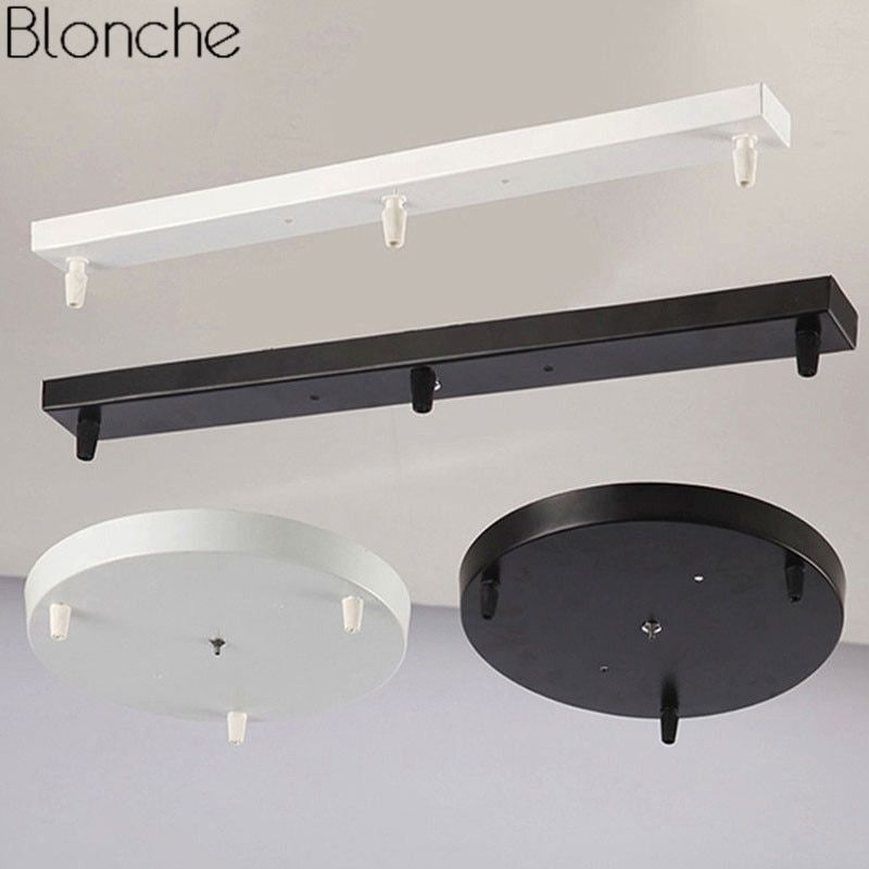 Diy Ceiling Lamp Base Canopy Plate Vintage 3 Hole Chandeliers Light Fittings Round Rectangular Lighting Acce Diy Ceiling Light Accessories Cheap Ceiling Lights