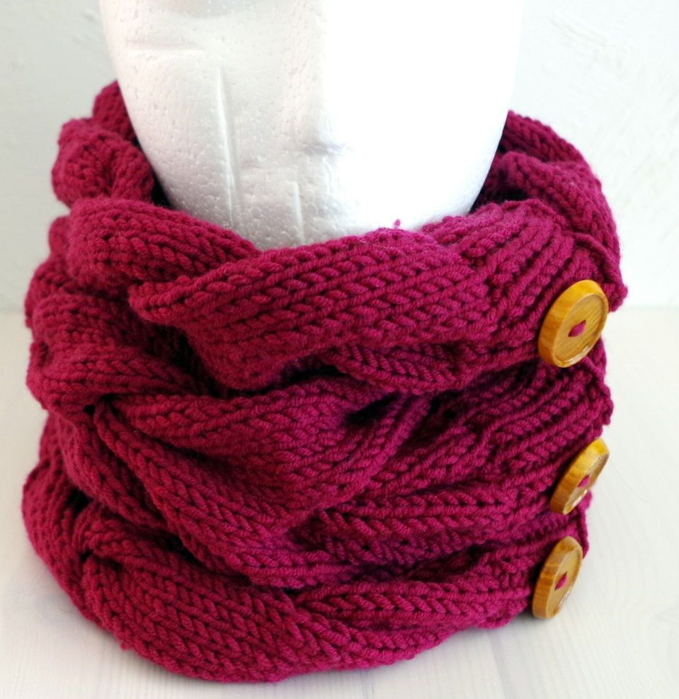bulky knit cowl pattern on straight needles | Happy Knitting ...