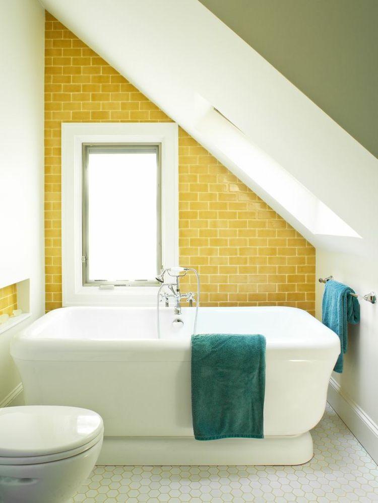 Metro Fliesen Verlegen In Bad Kuche Farbideen Fur Authentische Looks Gelbe Badezimmer Kleines Badezimmer Im Dachboden Und Kleine Badezimmer Design