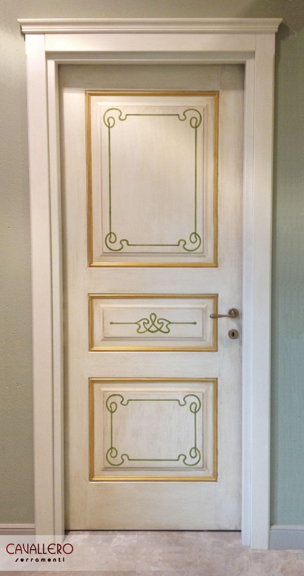 Porta decorata a mano con capitello | CASA | Porte decorate ...