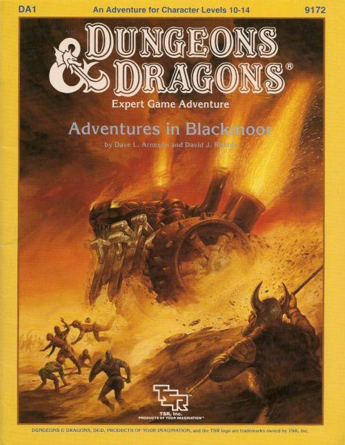 D&D: DA1 Adventures in Blackmoor ~ TSR (1986)
