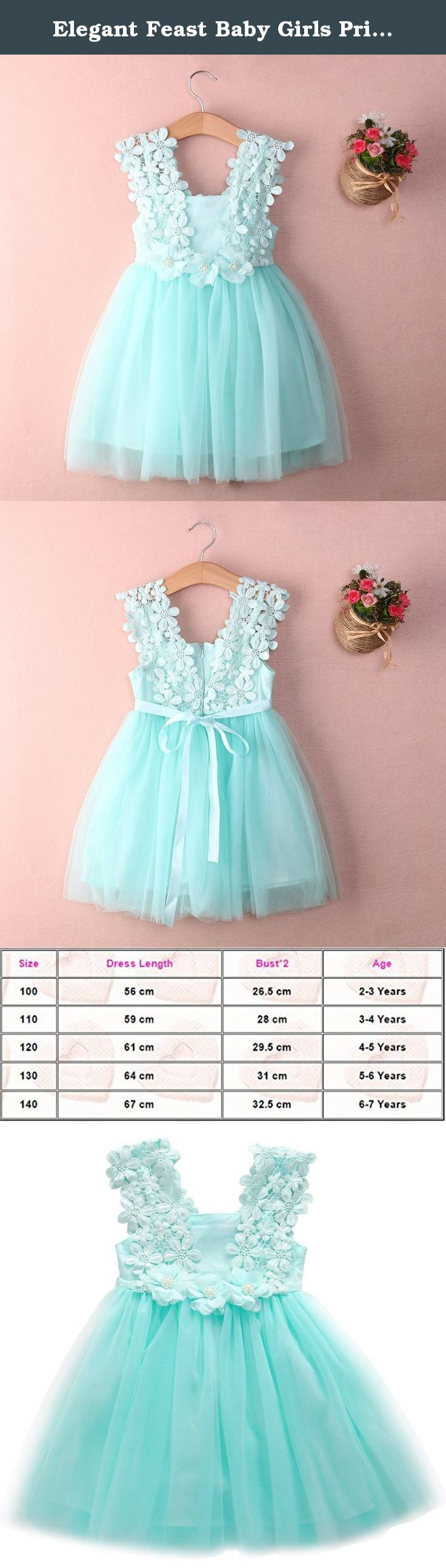 c83b048cd Elegant Feast Baby Girls Princess Lace Flower Tulle Tutu Gown Formal Party  Dress (2-3 Years, Blue). New in Fashion. Material: Lace Tulle. Dress ...