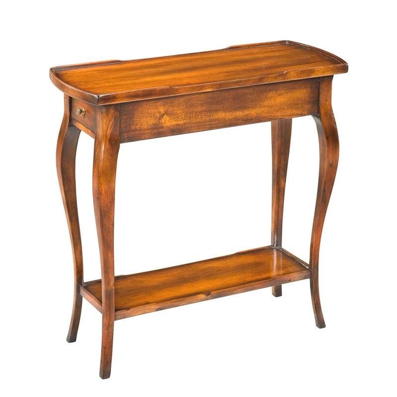 old world side table  side table slim side table living