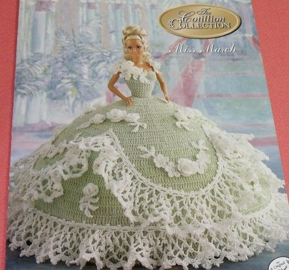 Miss March Cotillion Crochet Barbie Doll Dress Pattern By Annies