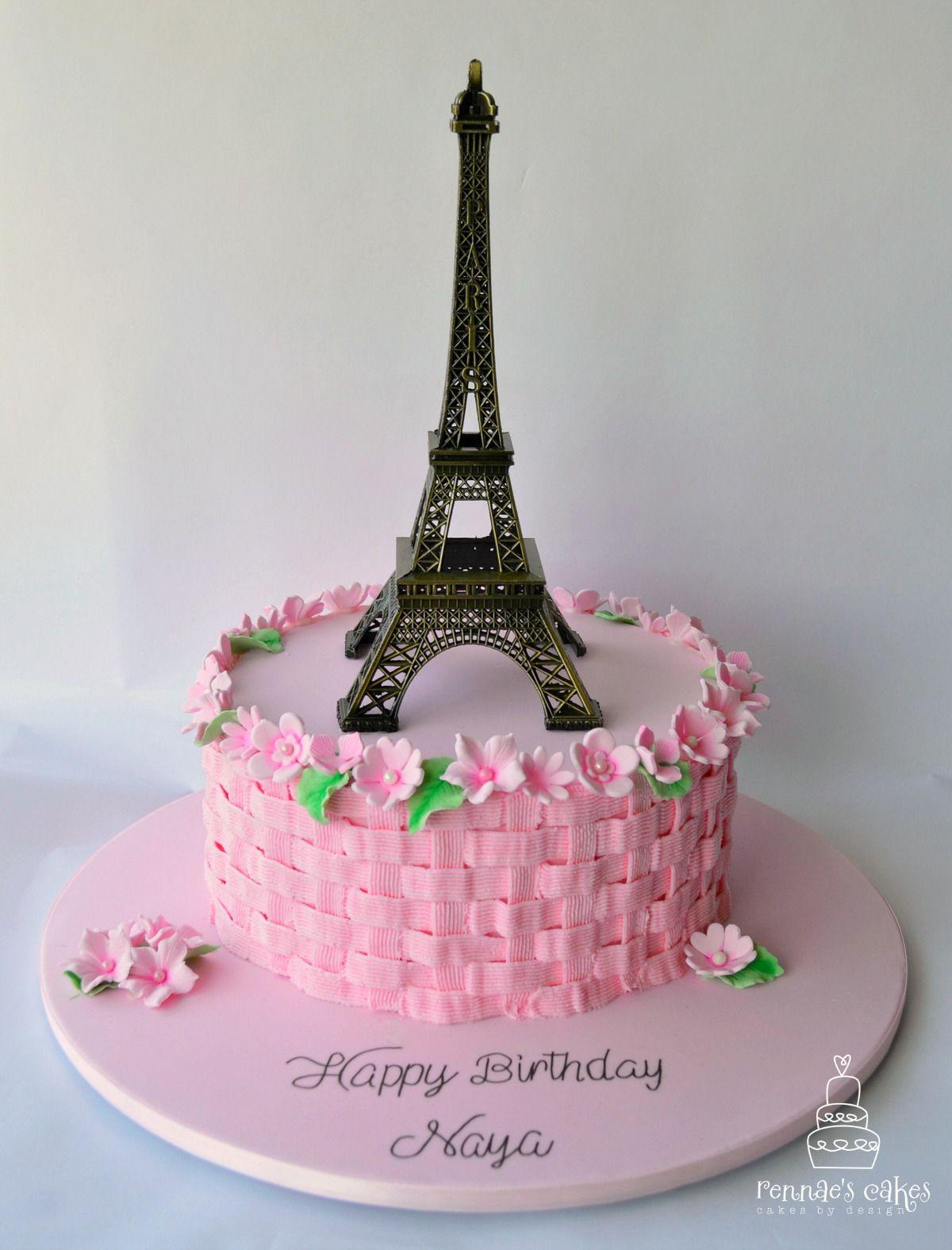 Astounding Paris Eiffel Tower Themed 18Th Birthday Cake Eiffel Tower Statue Birthday Cards Printable Giouspongecafe Filternl