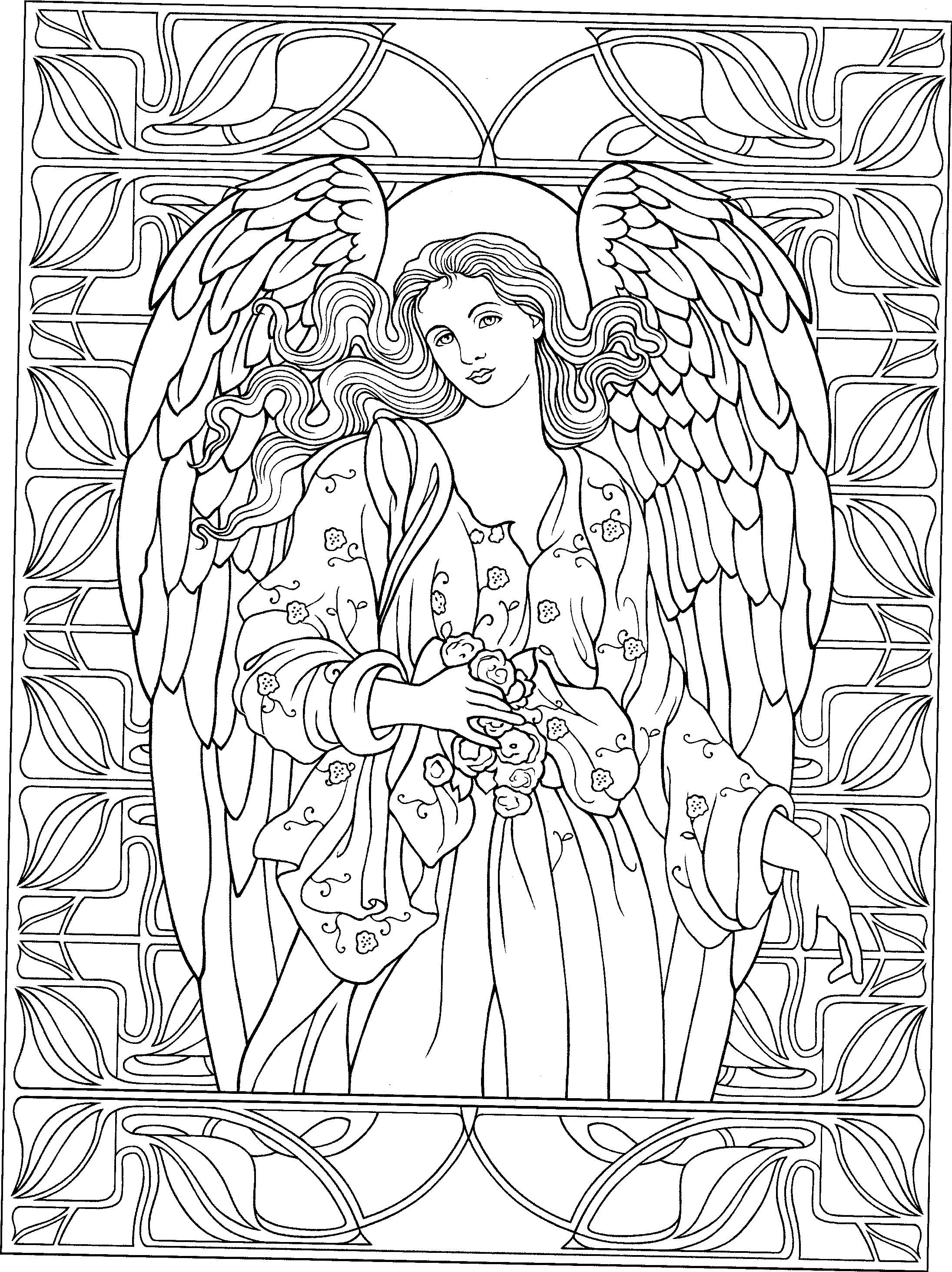 coloring pages angels - photo#41