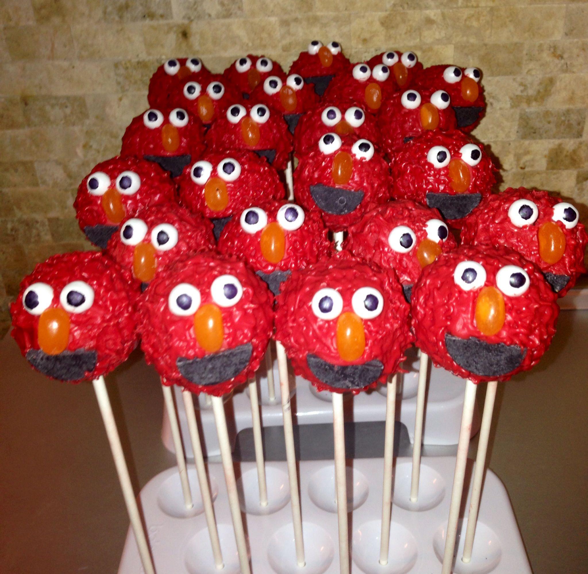 Elmo cake pops sesame street