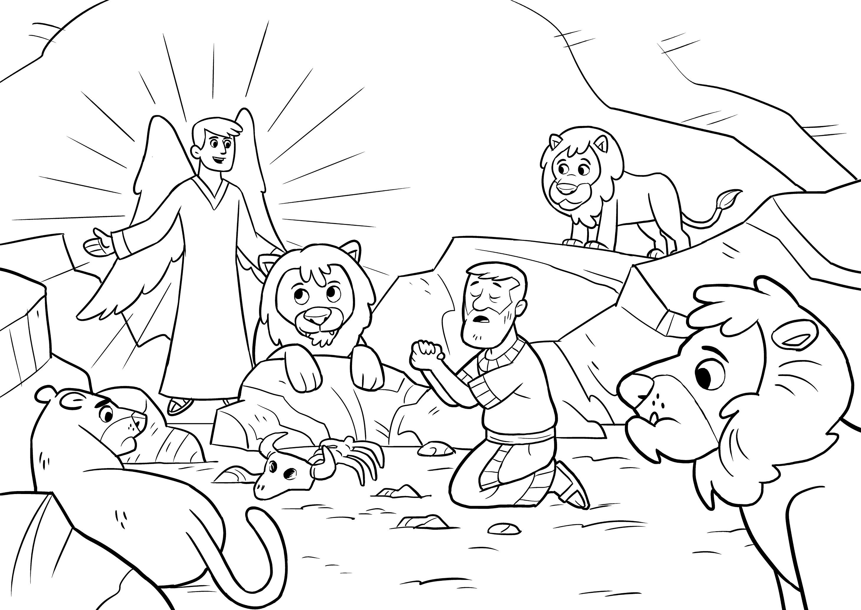 Inspiring Daniel In The Lions Den Coloring Page Terrific And She New