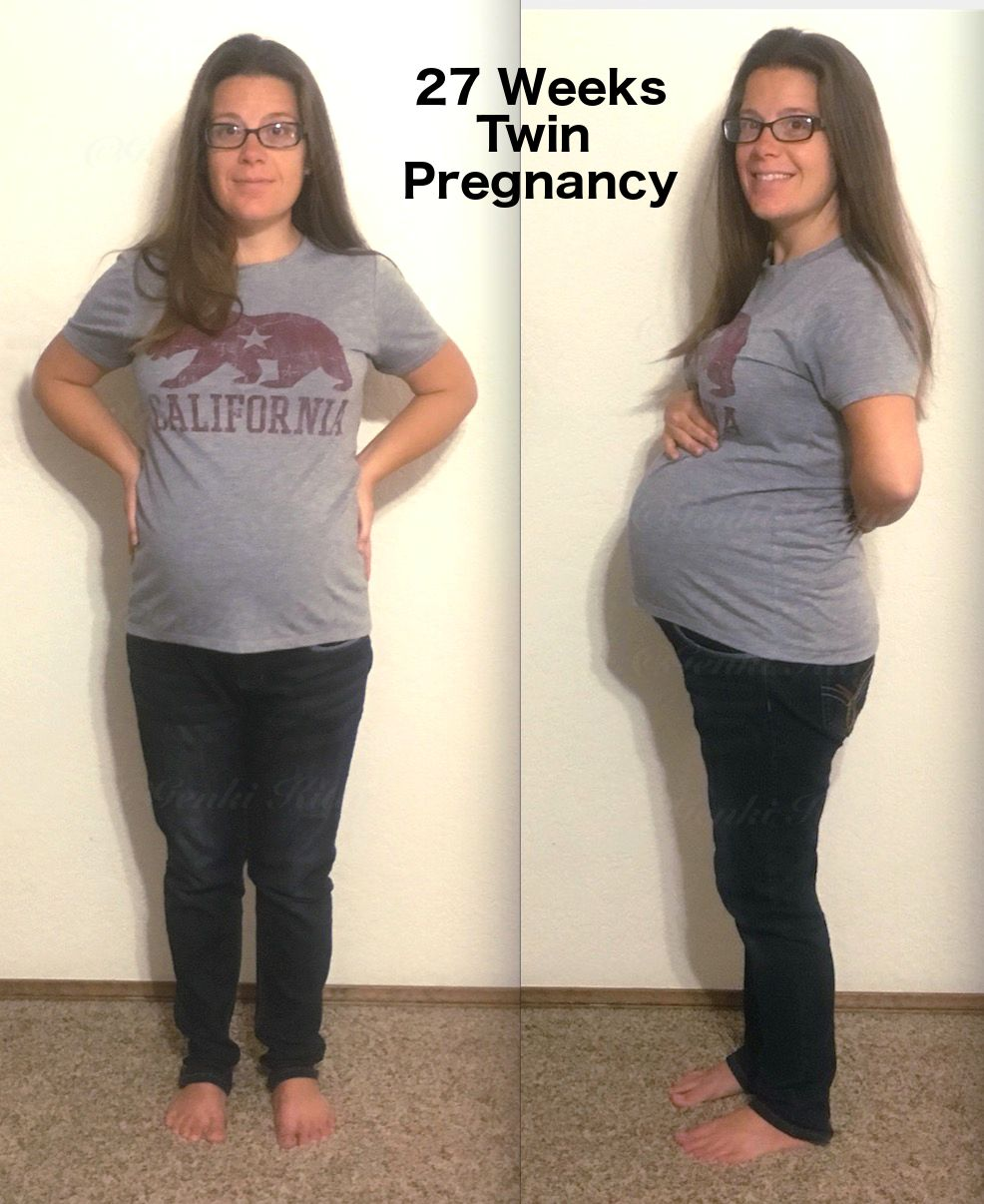 27 Weeks Twin Belly Bump Vegan
