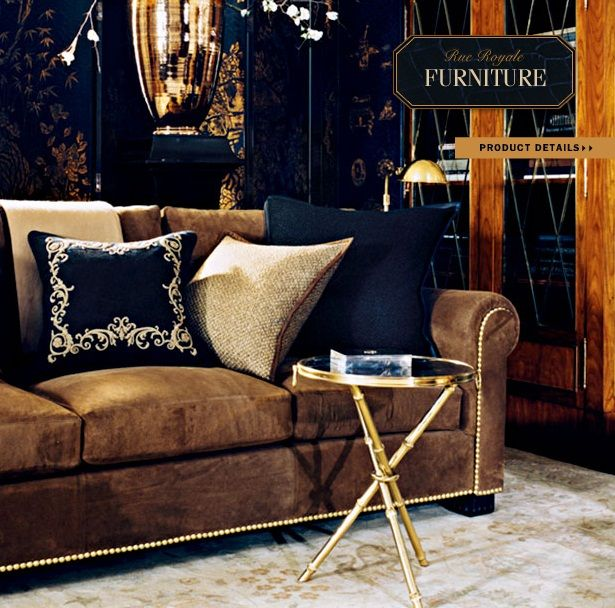 Astonishing Ralph Lauren Home Rue Royale Collection 8 Sofa And Coffee Andrewgaddart Wooden Chair Designs For Living Room Andrewgaddartcom