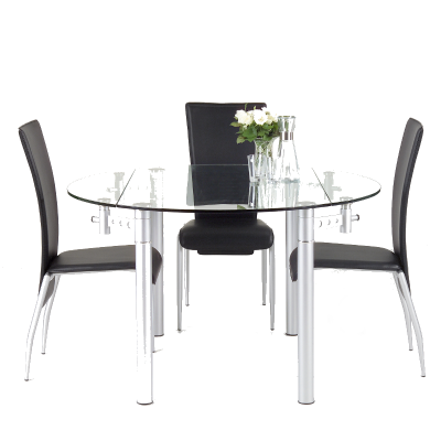 The Actona Palermo Dining Table A compact folding round 4 person