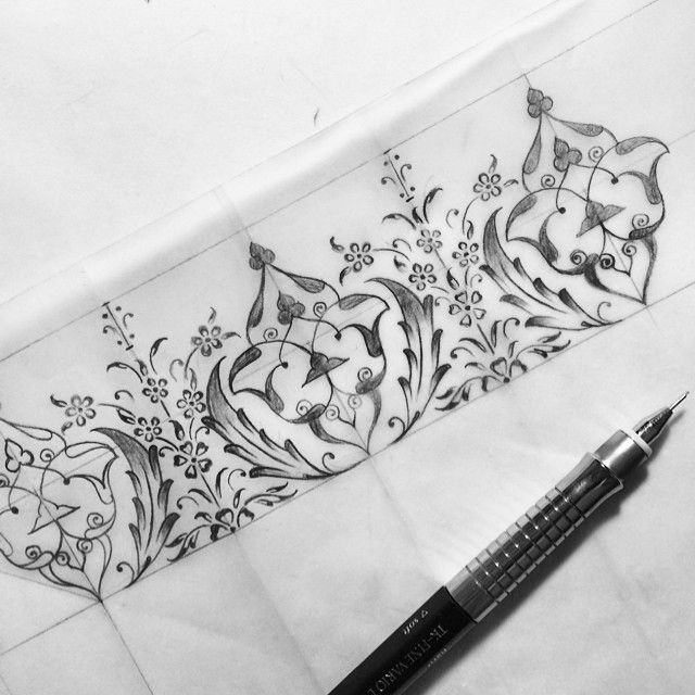 #illumination #tezhip #design #drawing #blackandwhite #dilarayarcı #calligraphy