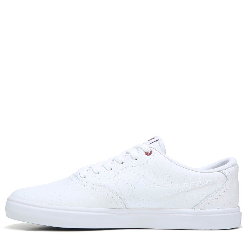3fb0bbf692db Nike Men s Nike SB Check Solar Leather Skate Shoes (White White) - 14.0 M