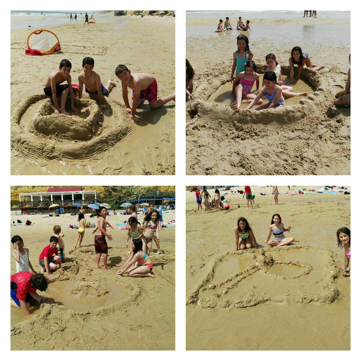 #primariasekelcastillo  @institucionsek 5EP castillos de arena con piscina