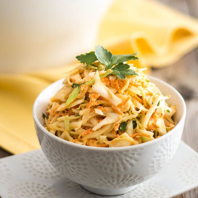 A sweet, tangy and creamy coleslaw that contains no added sugar whatsoever.  Looks yummy