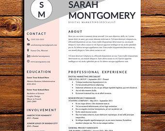 Resume Template Etsy Resume Template Etsy Resume Template Job Resume Format