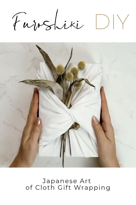 How to Furoshiki Gift Wrap with Fabric