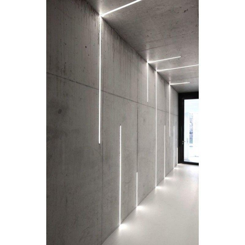 Led Profile Recessed Ceiling For Led Strip Aluminium Led Channel C W Diffuser End Caps Bande De Lumiere Eclairage Encastre Led