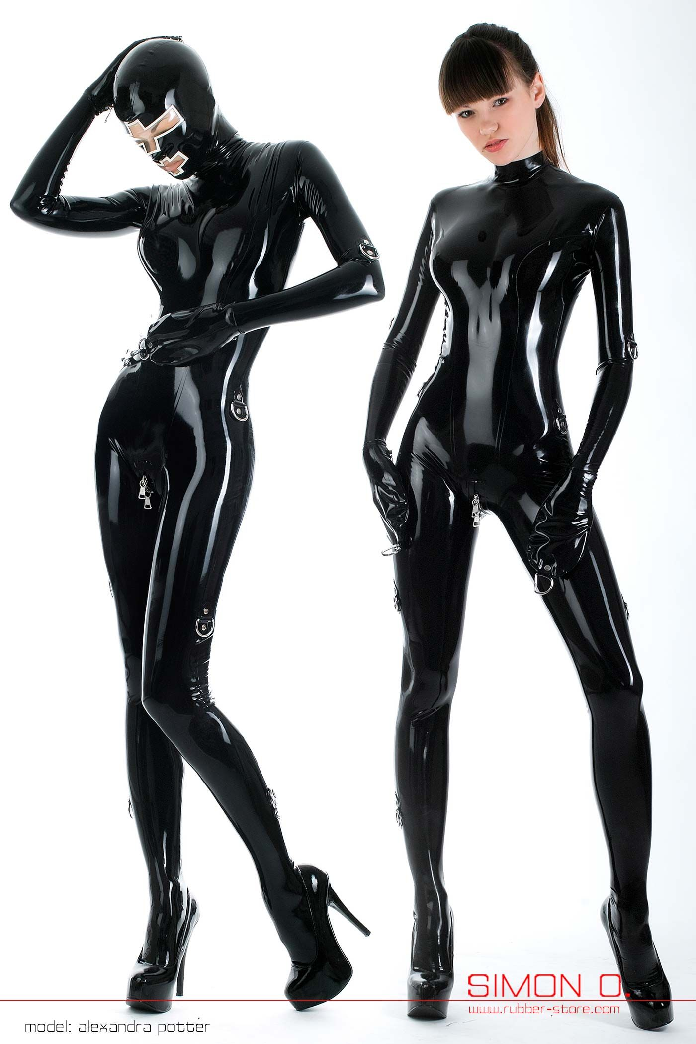 Girls in latex suits