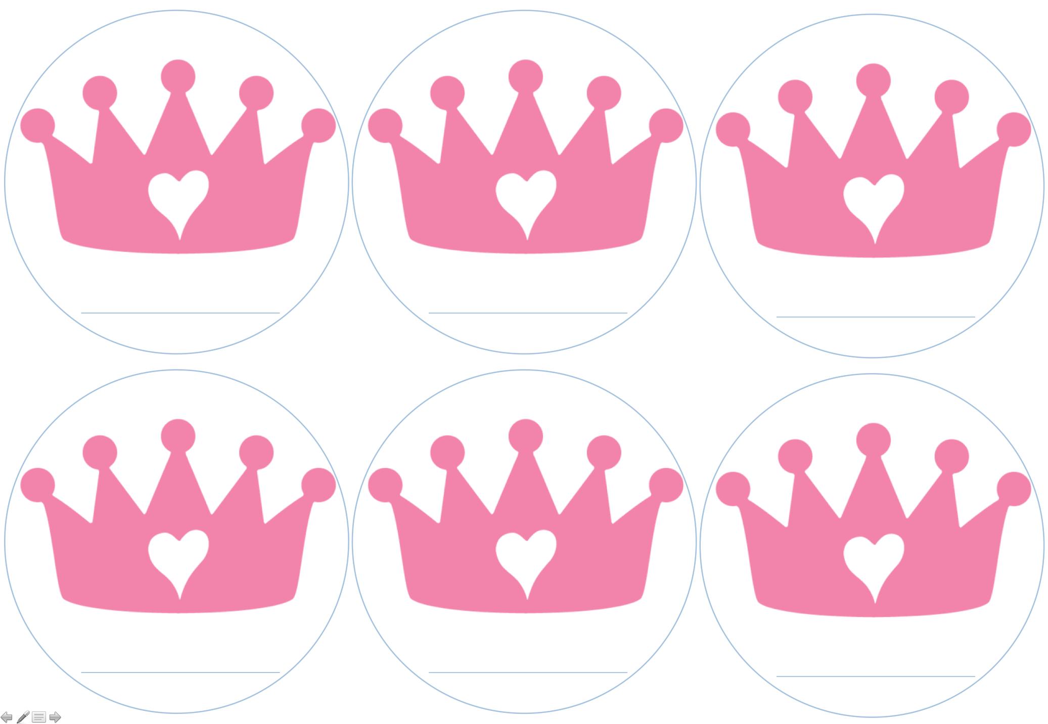Etiquetas para príncipes y princesas