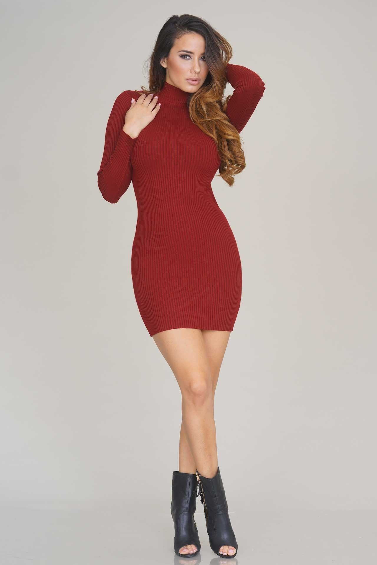 Red Turtleneck Dress | Red Dresses 2016