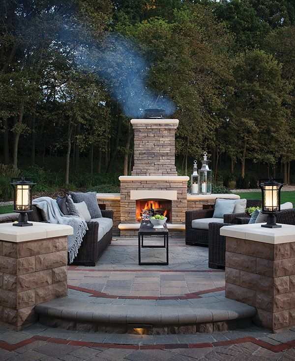 Download The Free Belgard Idea Book For Ultimate Backyard Inspiration Outdoor Fireplace Designs Backyard Outdoor Fireplace