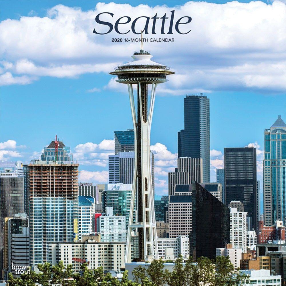 Seattle 2020 Wall Calendar in 2020 West coast cities