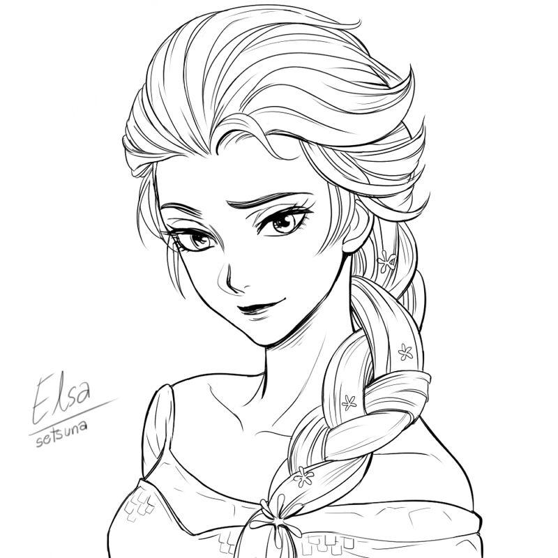 Frozen Elsa By Setsuna1111 Deviantart Com On Deviantart Disney Princess Coloring Pages Disney Princess Anime Frozen Drawings