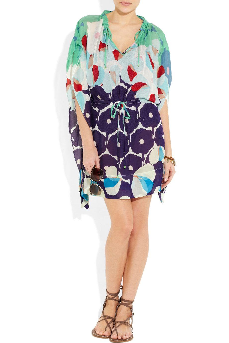 DIANE VON FURSTENBERG Zaila printed silk-blend voile mini dress