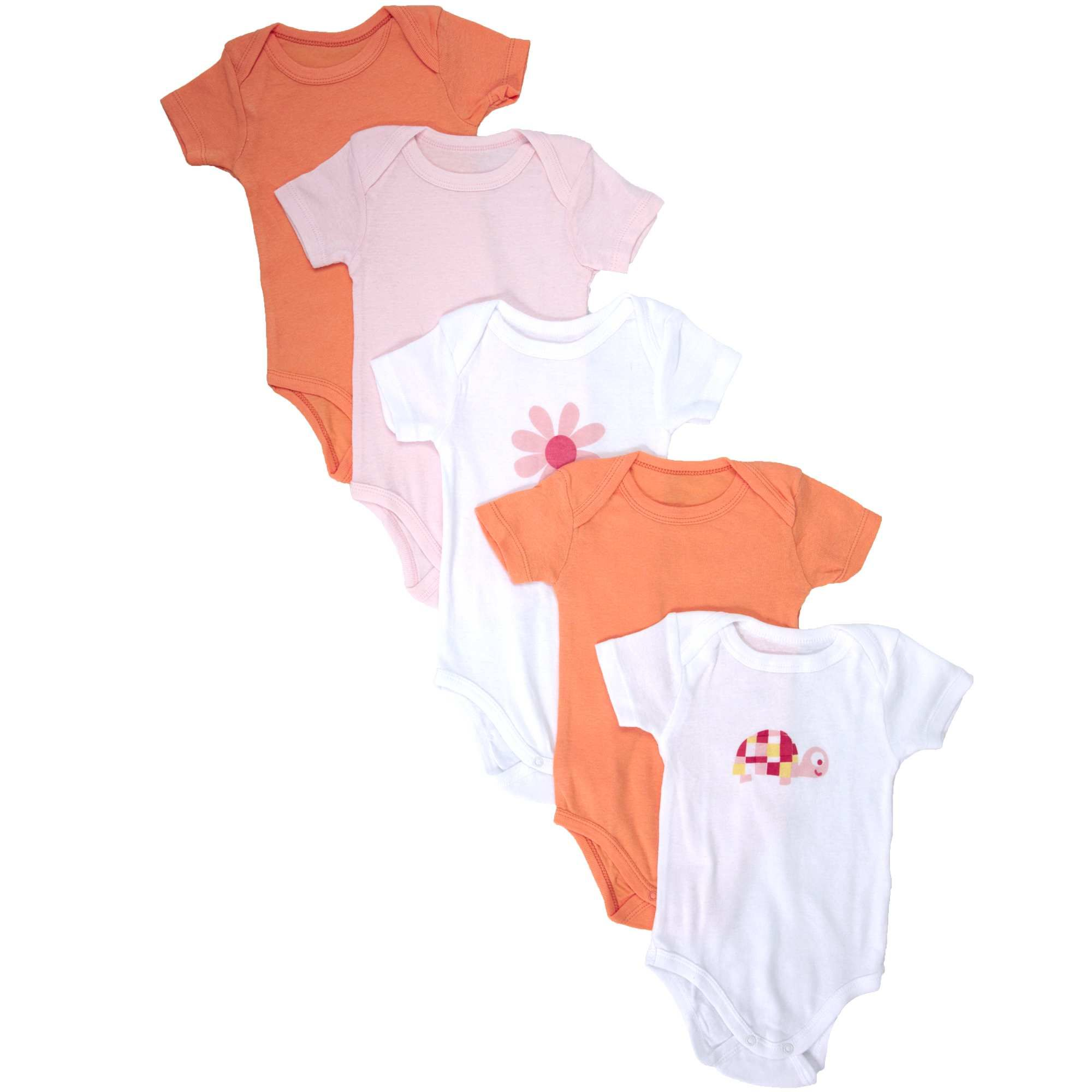 Lote de 5 bodies de algodón Bebé niña - Kiabi - 6,99€