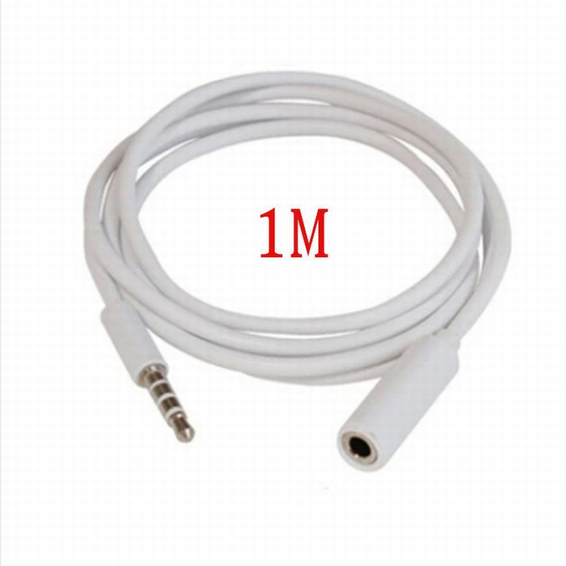 Aliexpress Com Buy 1m 3 5mm Male To 3 5mm Female Extension Cable Audio Stereo Headphone Adapter Cable Jack 3 5 F Phone Cables Stereo Headphones Audio Adapter