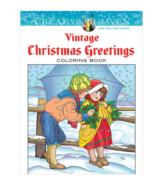 Dover Creative Haven Vintage Christmas Coloring Book | Dibujos para ...