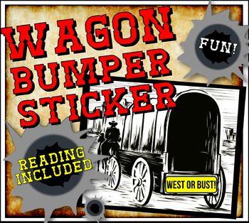 manifest destiny westward expansion close reading and wagon bumper sticker student the o 39 jays. Black Bedroom Furniture Sets. Home Design Ideas