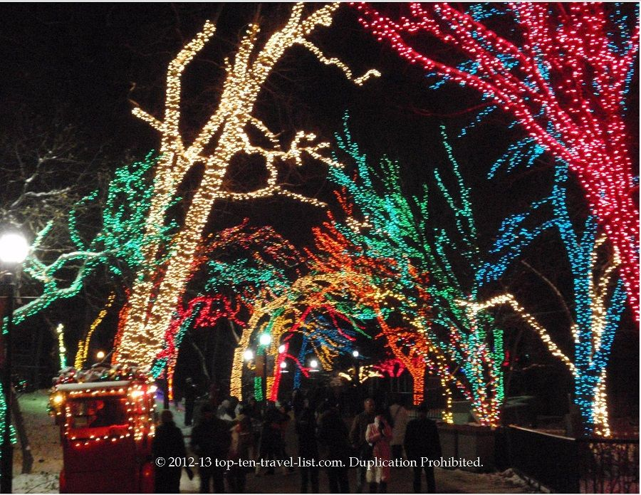 Lincoln Park Zoo A Colorful Zoolights Extravaganza Like No Other Top Ten Travel Blog Chicago Christmas Zoo Lights Chicago Travel